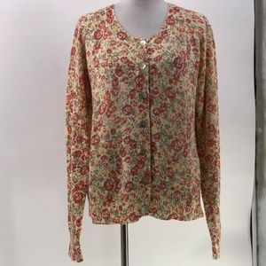 orvis wool blend cardigan sweater button front XL